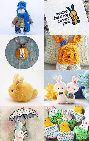 Bunny Love by Debbie B on Etsy--Pinned with TreasuryPin.com