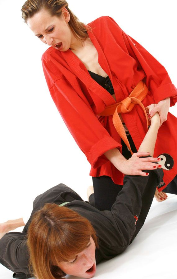 Grappling fight in judo uniforms - commission work, armbar on the ground