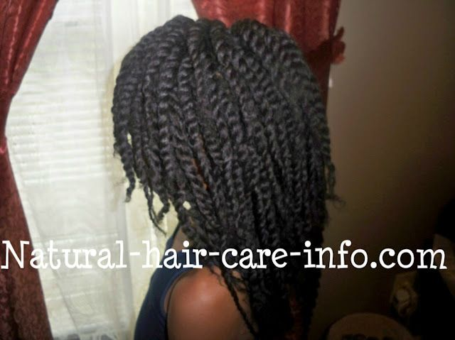 Two strand twists on dry hair using Suave conditioner <3