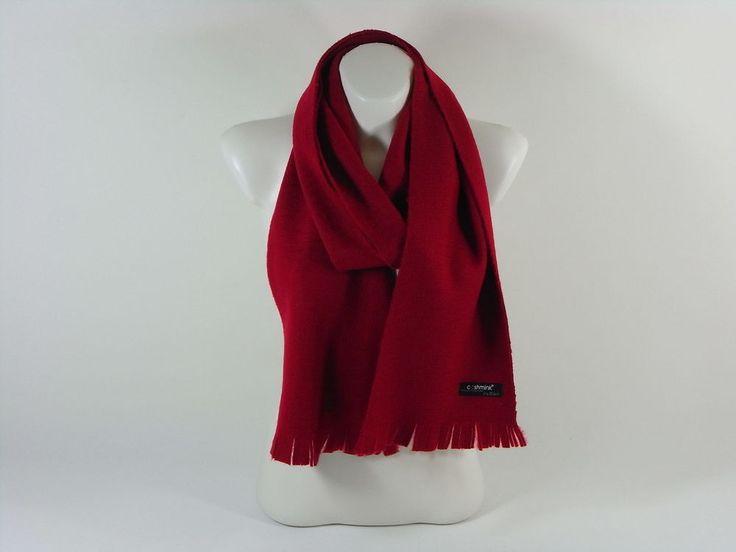Damenschal rot warm Cashmink Accessoires Herbst Winter Weihnachten Schal Scarf