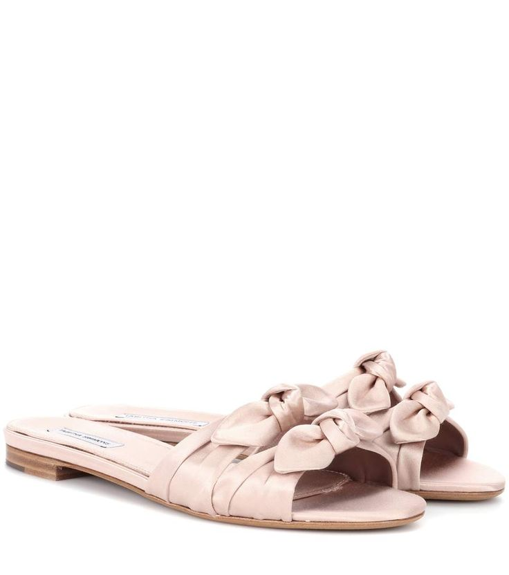 Slippers Cleo aus Satin in Rosa