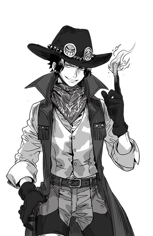 Ace as Cowboy One Piece