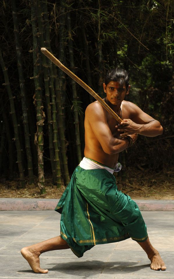 Silambam, the South Indian martial art of stick fighting