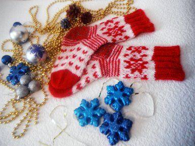 вязание на заказ носки новый год