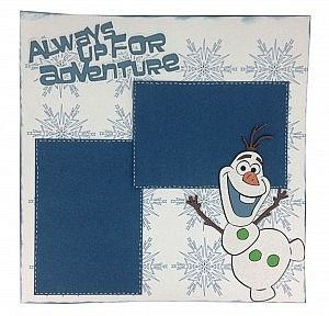 Olaf Layout Made with Frozen Cricut Cartridge #scrapbooking #Frozen…
