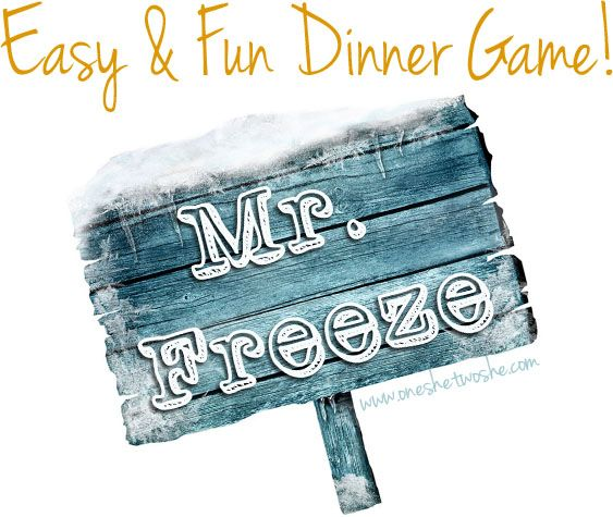 Mr. Freeze ~ Fun Group Game for Parties! www.oneshetwoshe.com