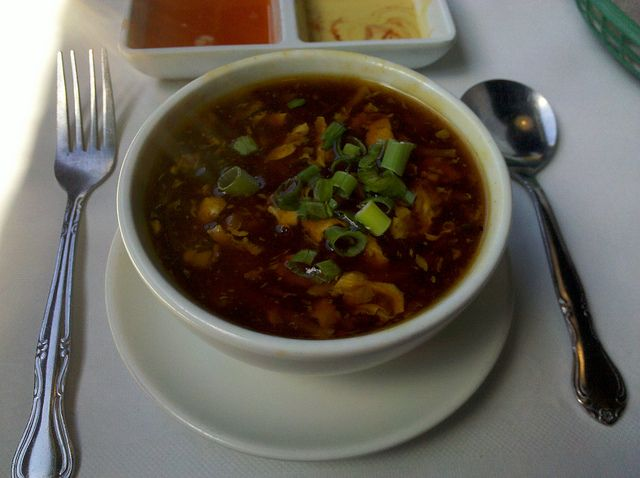 P.F. Chang's Hot and Sour Soup : The Restaurant Recipe Blog     Next time I would cut the soy sauce by 1/4 cup and vinegar by a little. I would also add a tsp more of white pepper to increase the hot factor