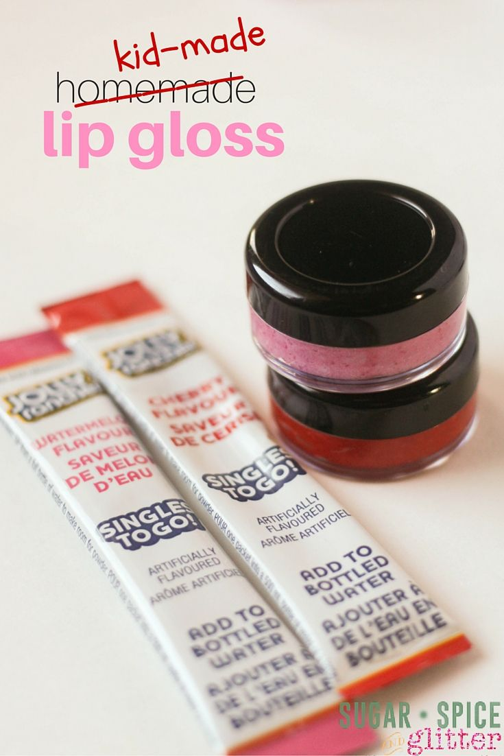 This Homemade Lip Gloss is the perfect homemade gift or party favour - perfect for a girl birthday party or slumber party activity. Made completely with food-grade ingredients, this lip gloss is safe enough for your youngest fashionista