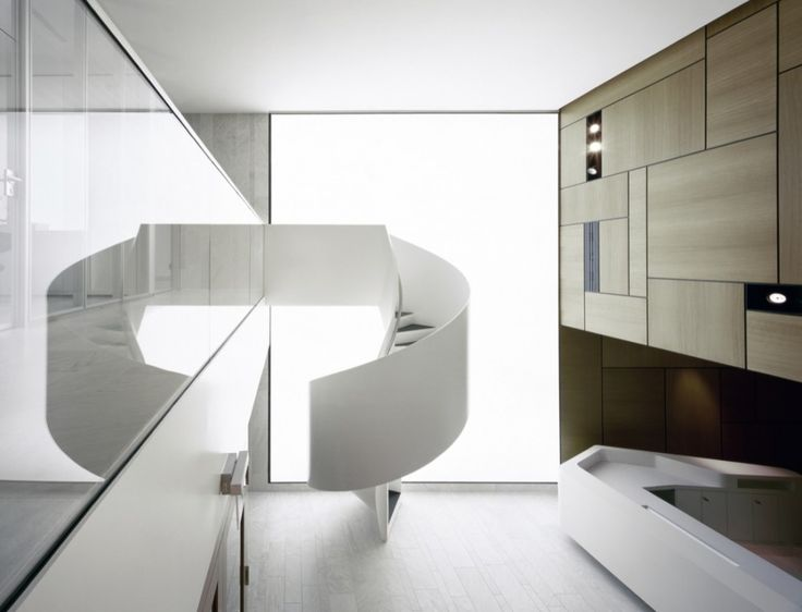 Amazing stair at the Kaldewei Entrance Pavilion and Reception Rooms by Bolles + Wils.