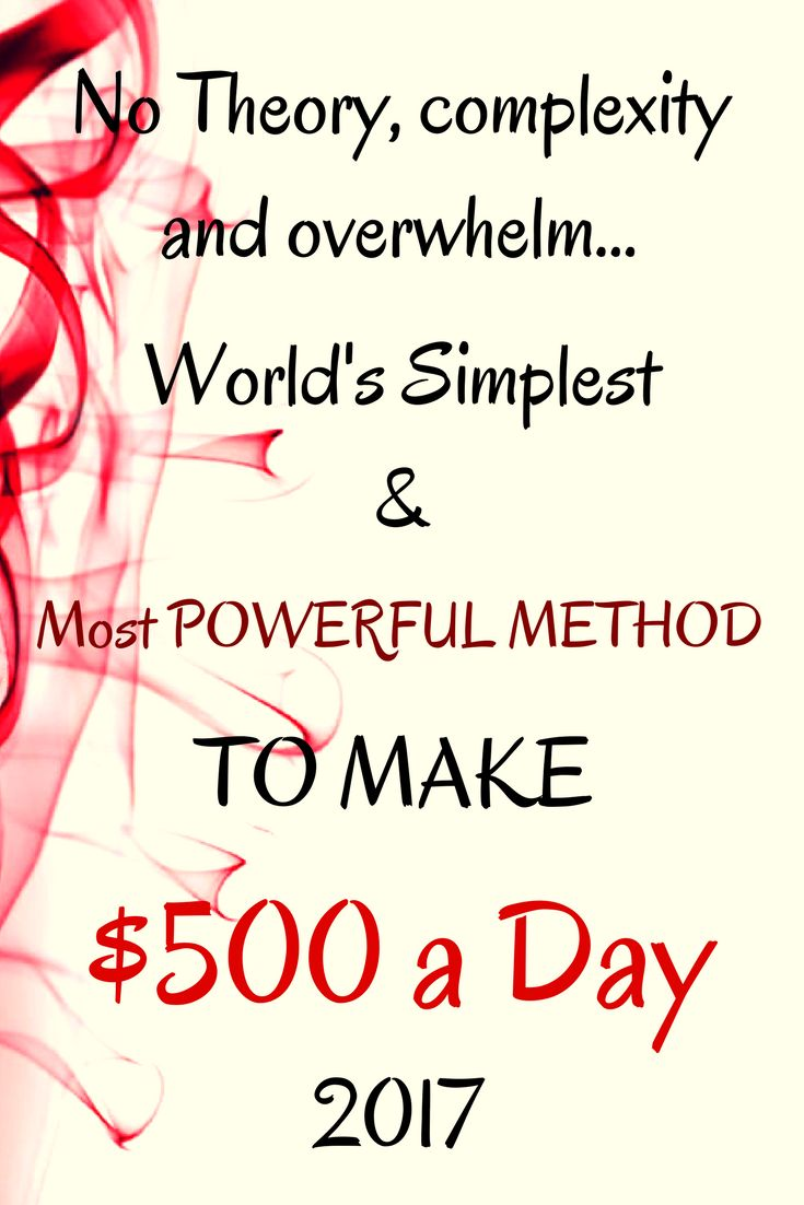 Make $500 a day. World's SIMPLEST Step by Step VIDEO GUIDE for BEGINNERS. Start making money 15 minutes from now. Click the LINK & Join FREE >>>
