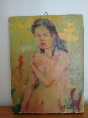 15 zł: Nieduży obraz malowany farbami przedstawiający akt . Polecam