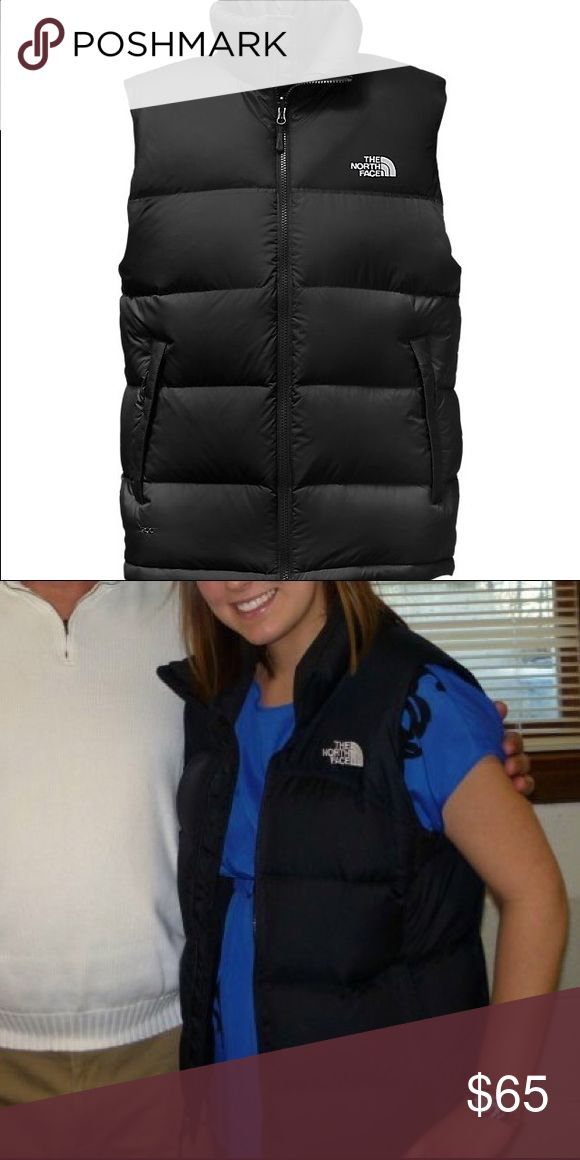 The North Face Nuptse vest 700 Black with white The North Face logo, Nuptse vest 700 The North Face Jackets & Coats Vests
