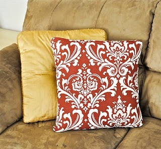 How To: Recover a throw pillow. Love how it's open flapped one vs being sewed shut.