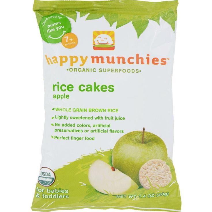 Happy baby happy munchies rice cakes apple 141 oz