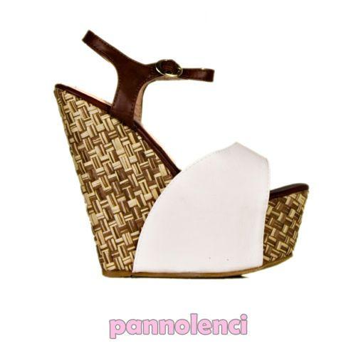 Scarpe donna zeppe zeppa zatteroni sandali tacchi alti plateau cinturino KB102-9   eBay