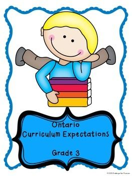 This is a complete set of curriculum expectations for the Ontario Grade 3 program.Its time to make your report cards easier!This checklist will help you to keep a continuous record of the accomplishments of your class.  It will also keep you on track to make sure you have hit all areas of curriculum.Each expectation of the Grade 3 Curriculum is here for you.