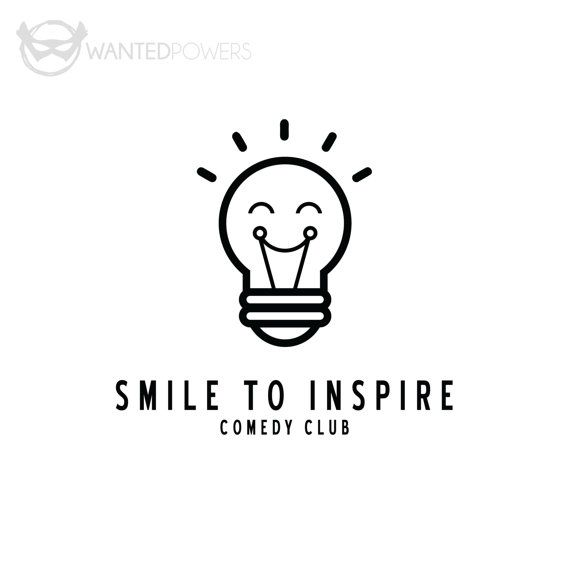 ABOUT Whimsical, laughing illustrated lightbulb logo, perfect for your comedy or corporate-related business! This design is a pre-made: Logo, Design, Lightbulb, Smile, Laugh, Comedy, Inspire