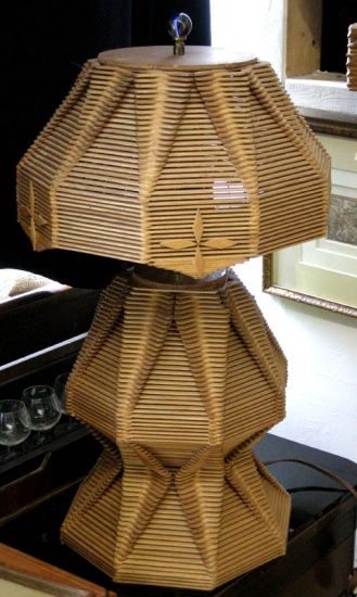 I 3 Popsicle Stick Lamps