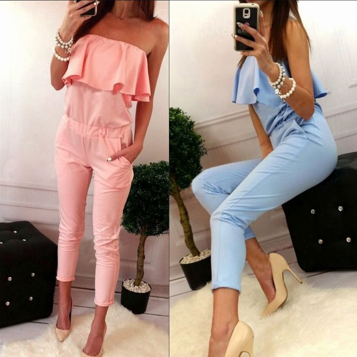 Sexy Clubwear Playsuit Party Jumpsuit&Romper Long Trousers