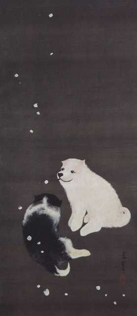 Puppies scroll by Nagasawa Rosetsu
