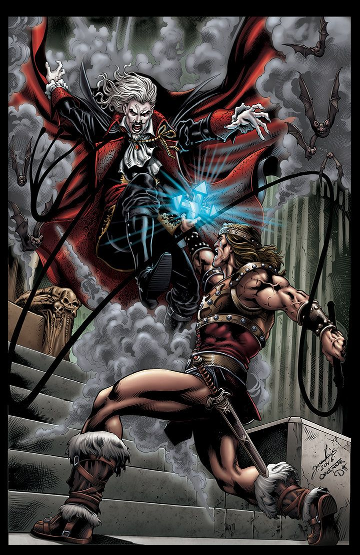 DRACULA vs SIMON BELMONT by DAVID-OCAMPO