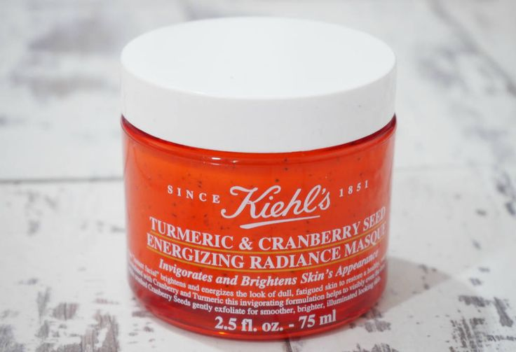 Kiehls Turmeric and Cranberry Seed Energizing Radiance Masque Review - an invigorating and brightening facial mask.