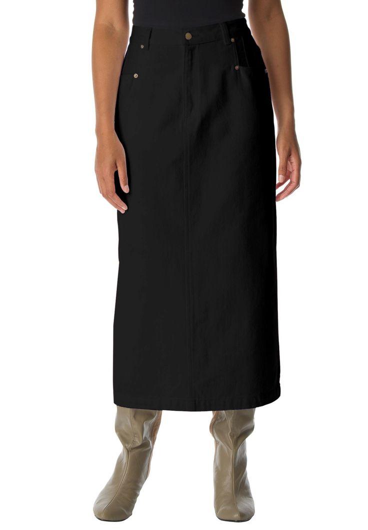 Plus Size L-Pocket Long Skirt
