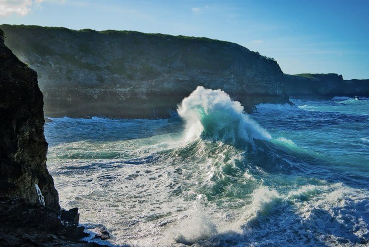 A beautiful capture by rachel_thecat on Flickr of crashing waves just off the coast of Pointe-à-Pitre, the largest city in Guadeloupe. Guadeloupe is a Caribbean island located in the Leeward Islands, in the Lesser Antilles, with a land area of 1,628 square kilometres (629 sq. mi) and a population of 400,000.