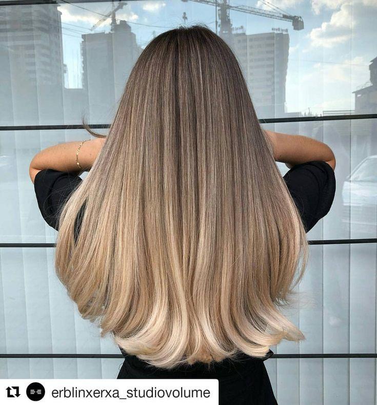 "Dubova Cosmetics auf Instagram: ""@erblinxerxa_studiovolume #hair #ombrebalayag"