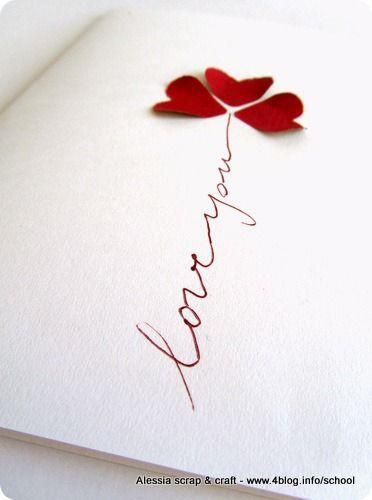 Biglietto fai da te veloce per San Valentino
