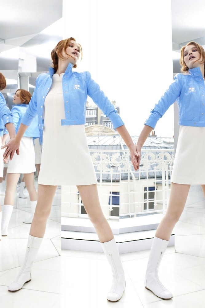 Baby blue. Buy #Courreges pieces exclusively online at ahalife.com