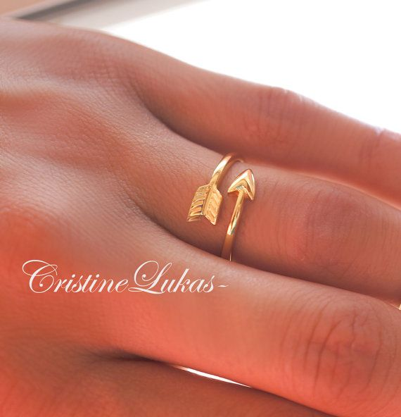 Beautifully crafted double wrap arrow ring. Ring will be crafted from precious metals of your choice. Ring is also adjustable to make sure comfort