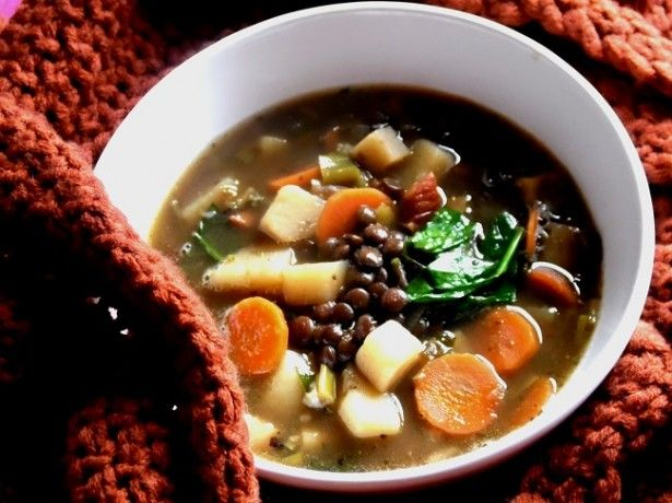 lentil soup from a slow cooker