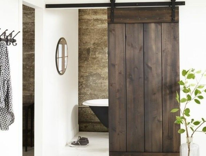 Les 25 meilleures id es de la cat gorie portes de grange for Porte interieur salle de bain