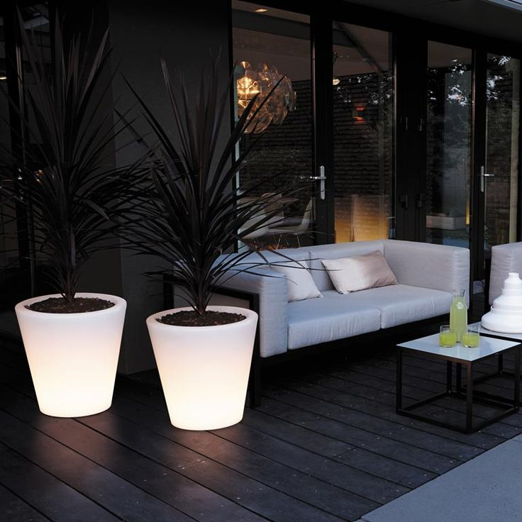 Elho Pure Straight LED Light Bloempot 45 cm