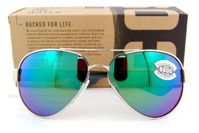 Costa Del Mar Sunglasses South Point Palladium Green Mirror 580G Polarized