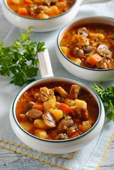 Hubová polievka s pohánkou