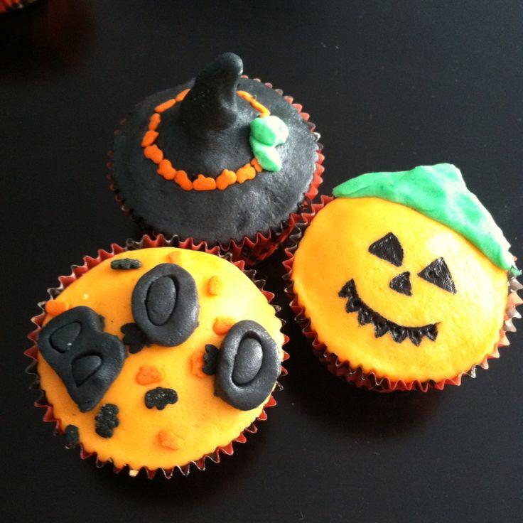 #halloween #cupcakes de calabaza #moncherry