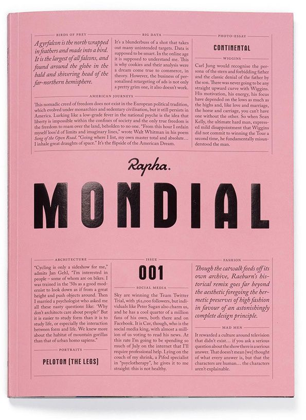 Rapha presents Mondial, a new biannual cycling magazine which raises the bar.
