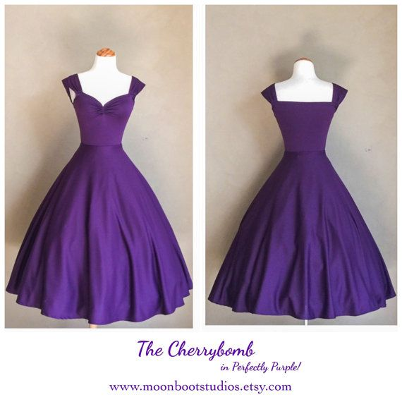 The CHERRYBOMB Dress in Perfectly Purple by MoonbootStudios