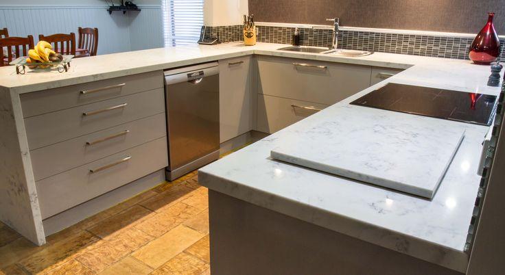 Small contemporary kitchen. U shape kitchen. www.thekitchendesigncentre.com.au