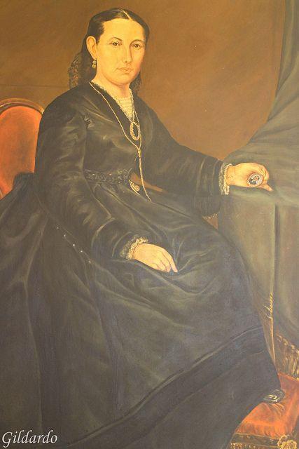 Retrato de Margarita Maza de Juárez en el Recinto de homenaje a Don Benito Juárez