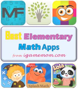 10 best math apps for early elementary kids, helping kids improve math fluency and enjoy math.