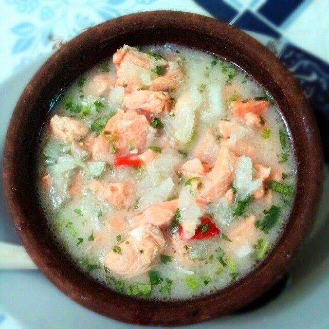 Cebiche de salmón chileno
