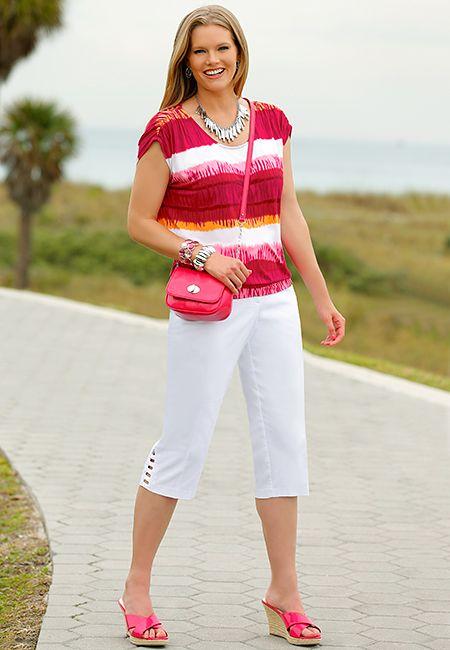 Plus Size Tie-Dye Prints @ Cato Fashion