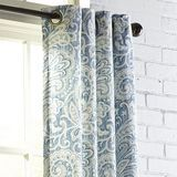 "Seasons Paisley Indigo 96"" Grommet Curtain"