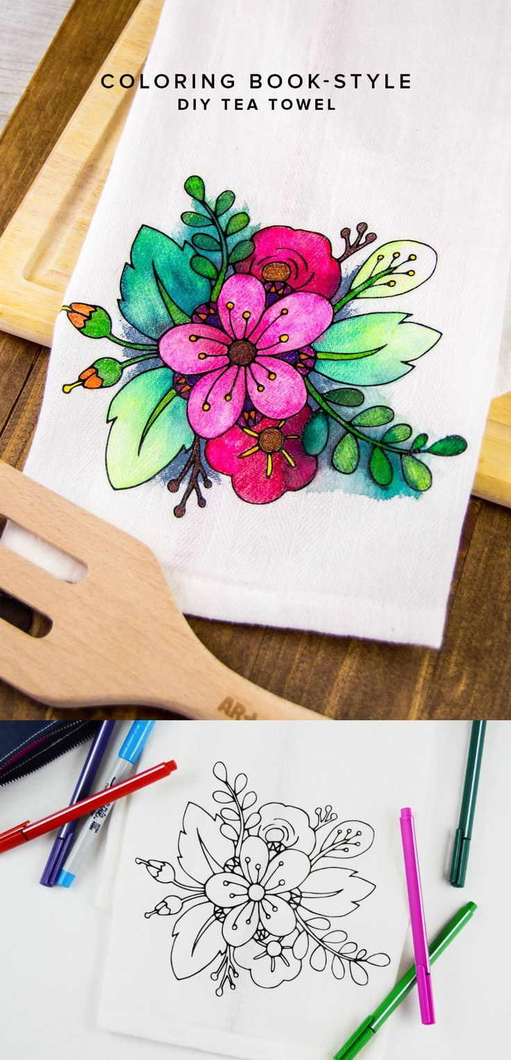 Watercolor paper coloring book - Adult Coloring Isn T Just For The Pages Of A Coloring Book Use Fabric