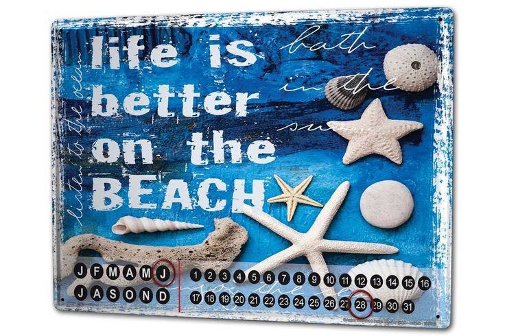 Calendario perpetuo Cucina Nave Arredamento Vita da spiaggia Magnetico