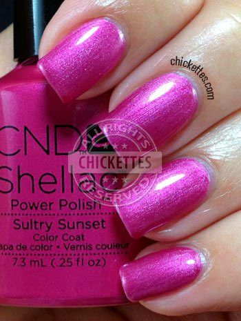 nails.quenalbertini: CND Shellac Paradise Collection Summer 2014 - Sultry Sunset