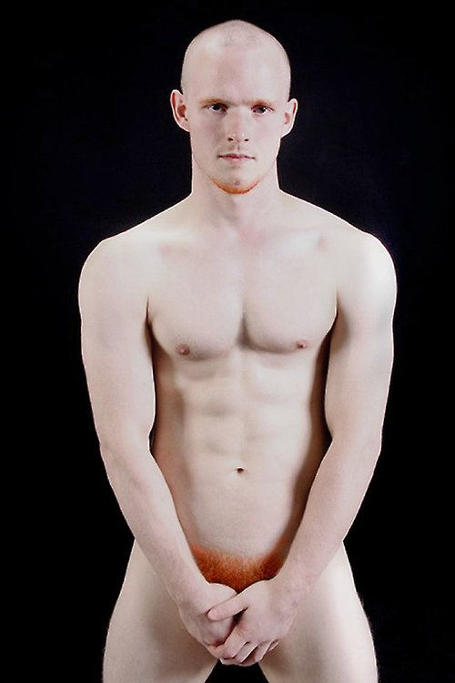 Naked red head man